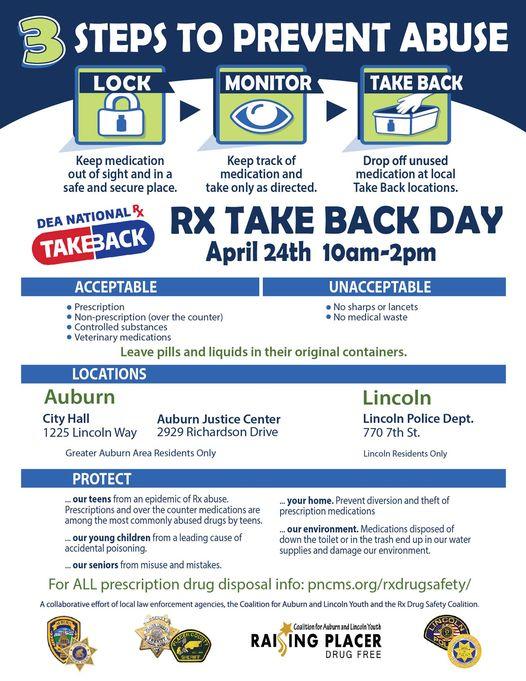 prescription take back flyer